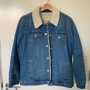 Madewell The Oversized Jean Jacket: Sherpa Edition